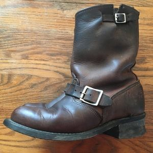Frye Engineer 8R Boots Brown Leather